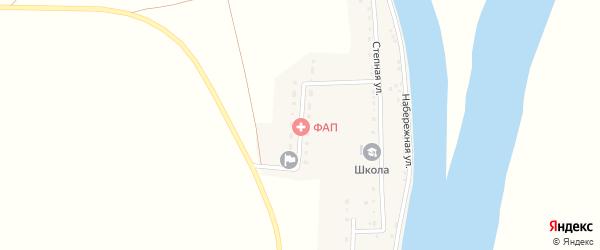 Абая улица на карте села Лебяжьего Астраханской области с номерами домов