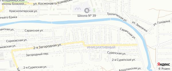 2-я Степновская улица на карте Астрахани с номерами домов