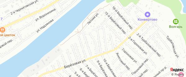 Березовый 9-й переулок на карте Астрахани с номерами домов