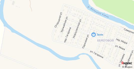 Переулок Гагарина в Новоузенске с номерами домов на карте. Спутник и схема онлайн