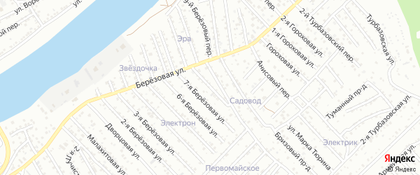 8-я Березовая улица на карте Астрахани с номерами домов