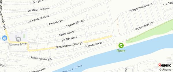 Переулок 3-й Гончарова на карте Астрахани с номерами домов
