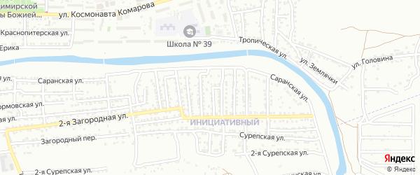 Колымский переулок на карте Астрахани с номерами домов