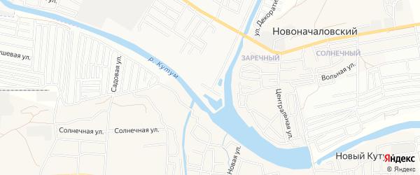 Садовое товарищество Казатум на карте Астрахани с номерами домов