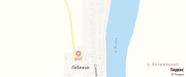 Степная улица на карте села Лебяжьего Астраханской области с номерами домов