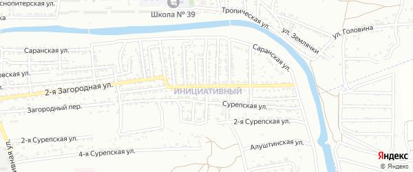 Загородная улица на карте Астрахани с номерами домов