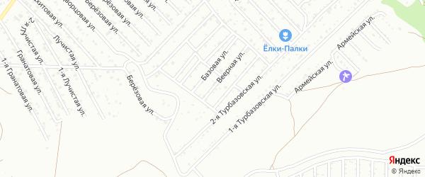 Веерная улица на карте Астрахани с номерами домов
