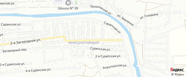 Махачкалинская улица на карте Астрахани с номерами домов