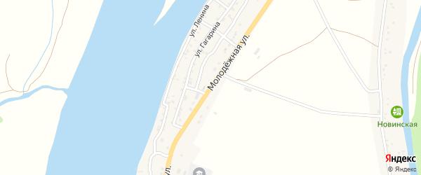 Молодежная улица на карте Караульного села Астраханской области с номерами домов