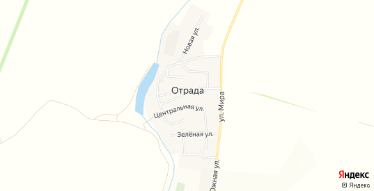 Карта села Отрада в Ульяновске с улицами, домами и почтовыми отделениями со спутника онлайн
