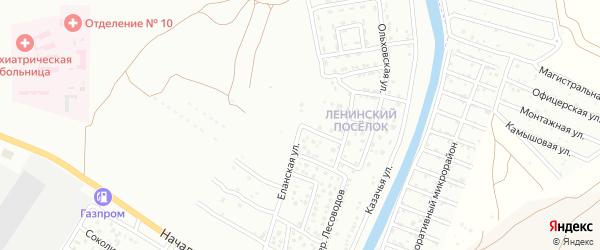 Еланская улица на карте Астрахани с номерами домов