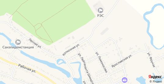 Колхозная улица в Новоузенске с номерами домов на карте. Спутник и схема онлайн