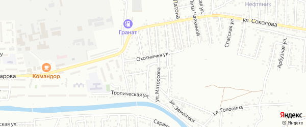 Читинский переулок на карте Астрахани с номерами домов