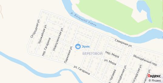Парковый переулок в Новоузенске с номерами домов на карте. Спутник и схема онлайн