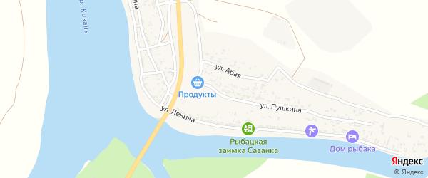 Улица Пушкина на карте Верхнекалиновского поселка Астраханской области с номерами домов