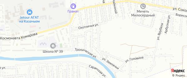Улица Александра Матросова на карте Астрахани с номерами домов