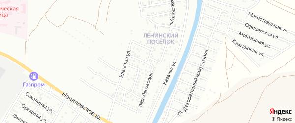 Кореновская улица на карте Астрахани с номерами домов