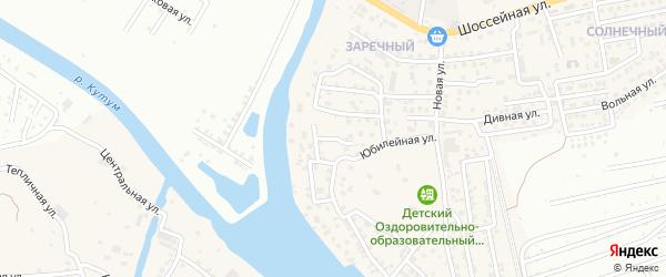 Садовый переулок на карте Новоначаловский поселка Астраханской области с номерами домов