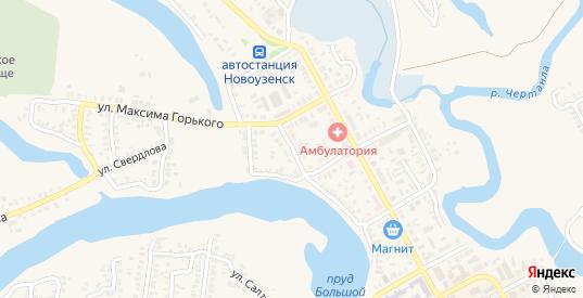 Тульский переулок в Новоузенске с номерами домов на карте. Спутник и схема онлайн