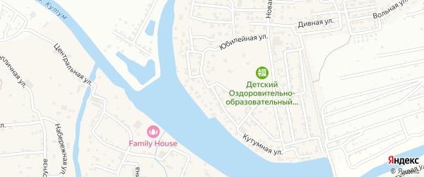 Кольцевая улица на карте Новоначаловский поселка с номерами домов