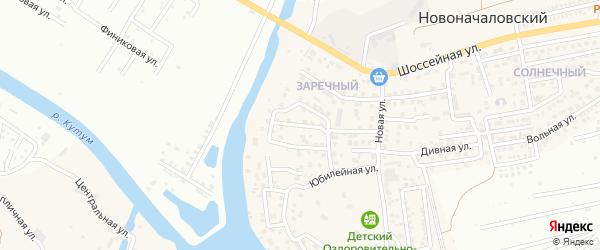 Коммунальная улица на карте Новоначаловский поселка Астраханской области с номерами домов
