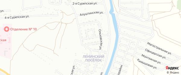 Бакурский 6-й переулок на карте Астрахани с номерами домов