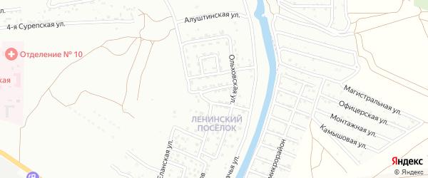 Анапская улица на карте Астрахани с номерами домов