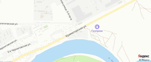 Краматорская улица на карте Астрахани с номерами домов