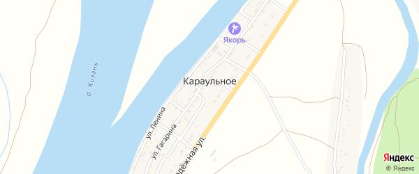 Колхозная улица на карте Караульного села Астраханской области с номерами домов