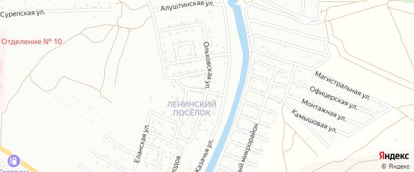 Ольховская улица на карте Астрахани с номерами домов