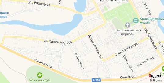 Новый переулок в Новоузенске с номерами домов на карте. Спутник и схема онлайн