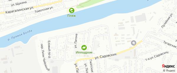 Аксайский переулок на карте Астрахани с номерами домов