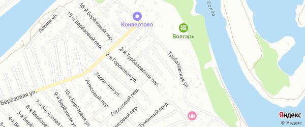 Турбазовский 1-й переулок на карте Астрахани с номерами домов