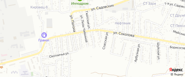 Улица Федорова на карте Астрахани с номерами домов
