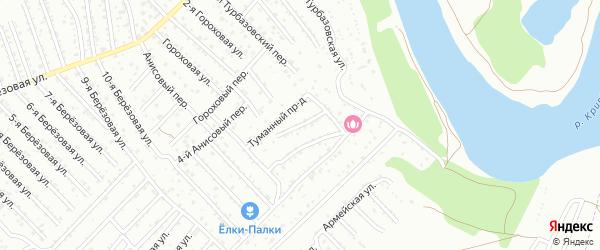 Искристый переулок на карте Астрахани с номерами домов