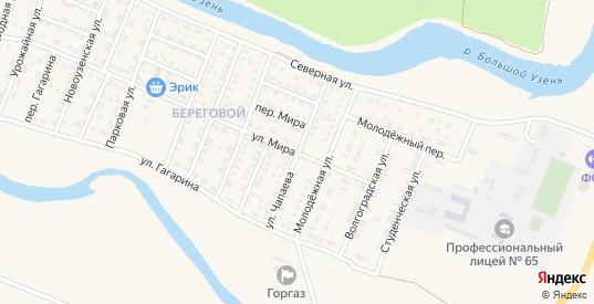 Улица Чапаева в Новоузенске с номерами домов на карте. Спутник и схема онлайн