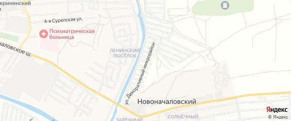 Садовое товарищество Декоратор на карте Астрахани с номерами домов