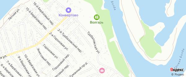 Турбазовская улица на карте Астрахани с номерами домов
