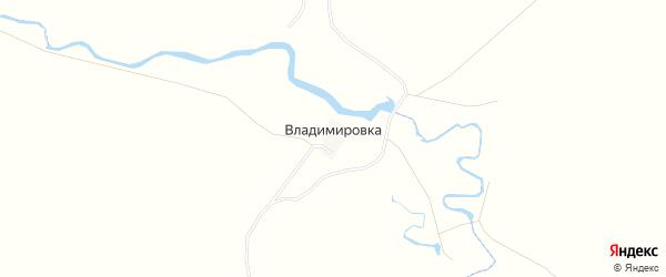Карта хутора Владимировки в Саратовской области с улицами и номерами домов