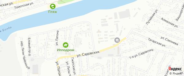 Политехническая улица на карте Астрахани с номерами домов