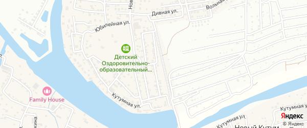 Зеленая улица на карте Новоначаловский поселка Астраханской области с номерами домов