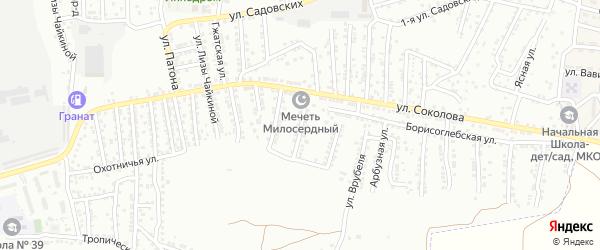 1-я Спасская улица на карте Астрахани с номерами домов