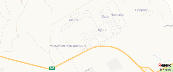 Садовое товарищество Лоза на карте Астрахани с номерами домов