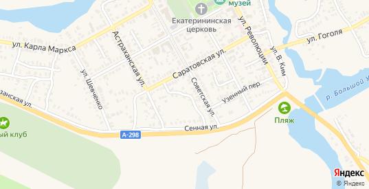 Советский переулок в Новоузенске с номерами домов на карте. Спутник и схема онлайн