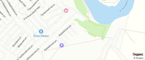 Армейский переулок на карте Армейца с номерами домов