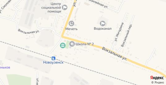 Вокзальная улица в Новоузенске с номерами домов на карте. Спутник и схема онлайн