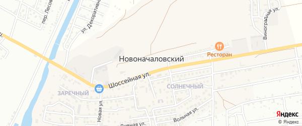 Магистральная улица на карте Новоначаловский поселка Астраханской области с номерами домов