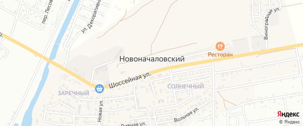 Монтажная улица на карте Новоначаловский поселка Астраханской области с номерами домов