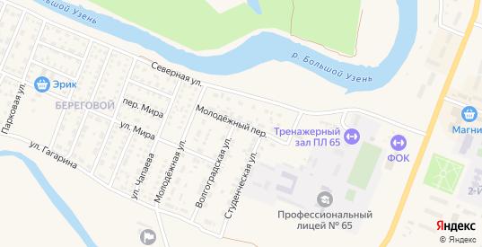 Молодежный переулок в Новоузенске с номерами домов на карте. Спутник и схема онлайн