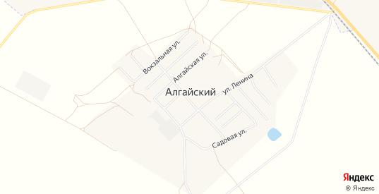 Карта поселка Алгайский в Саратовской области с улицами, домами и почтовыми отделениями со спутника онлайн
